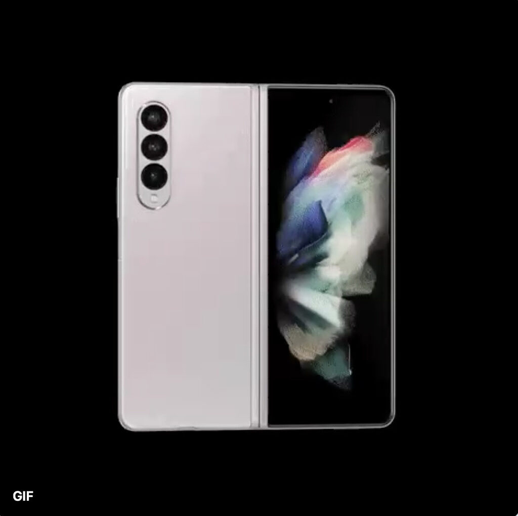 A render of the Galaxy Z Fold 3 as leaked by Evan Blass