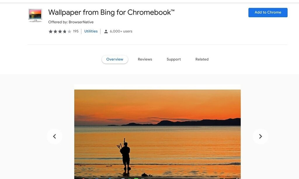 Bing wallpapers Chrome extension