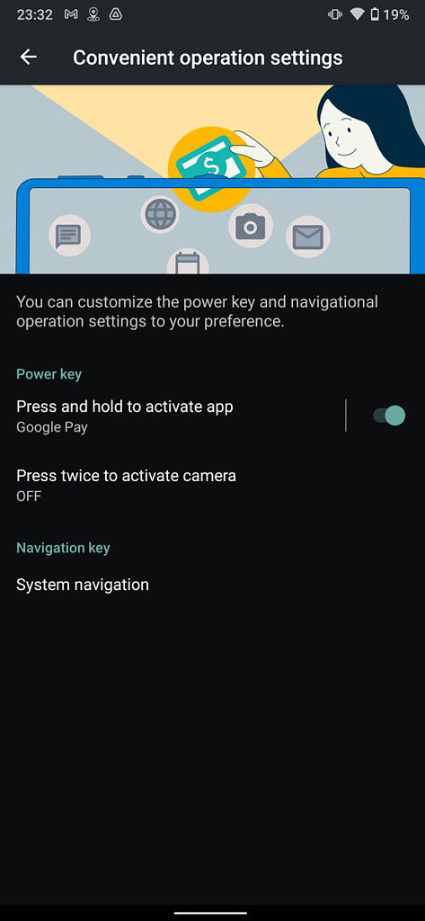 A settings page inside the Leica Leitz Phone 1