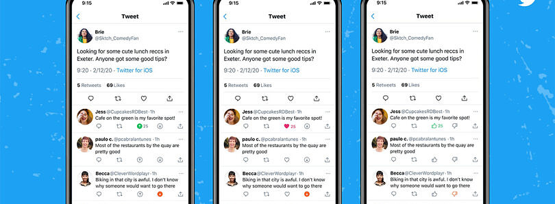 Twitter is testing a downvote button for tweet replies on iOS
