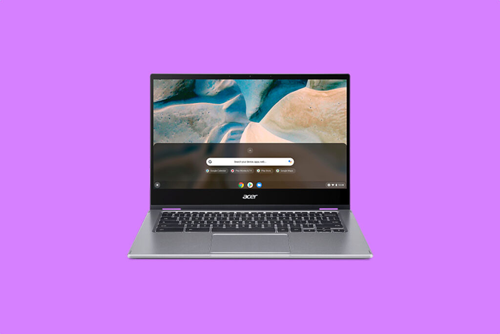 Acer Spin 514 on Purple background