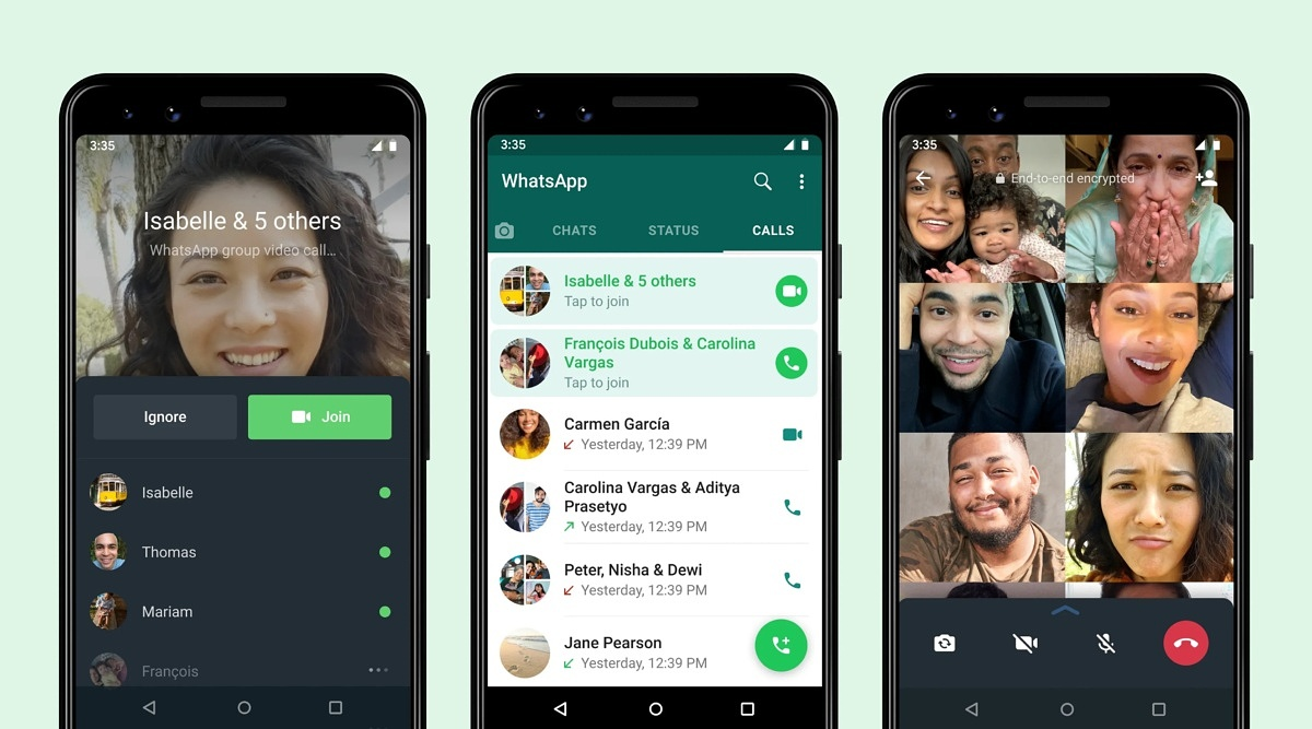 WhatsApp now lets you join group calls that already started