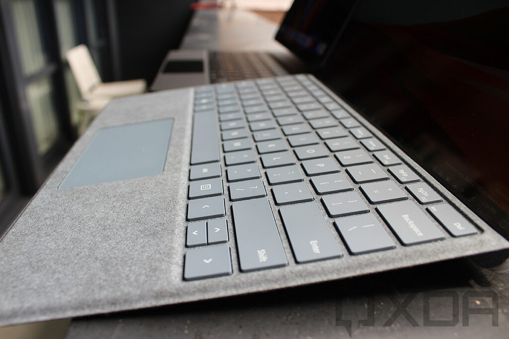 Side view of Surface Pro X keyboard