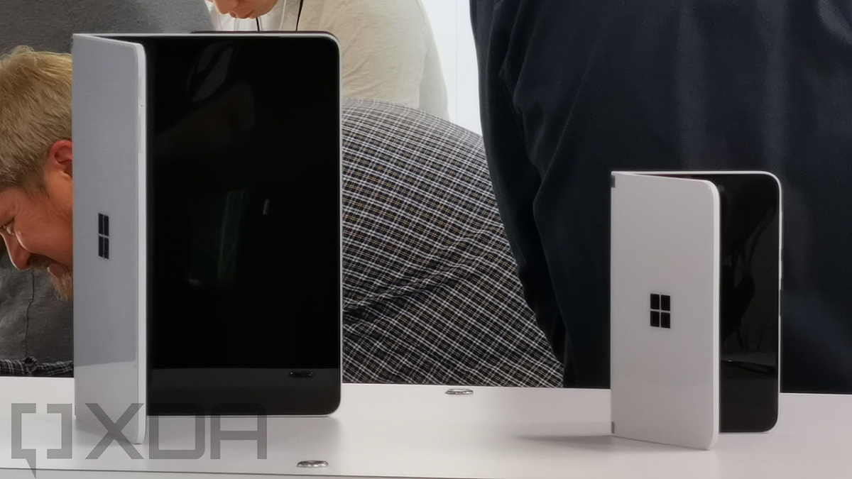 Microsoft Surface Neo and Surface Duo at launch event