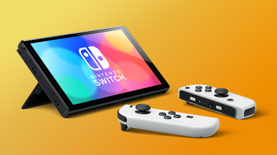 Nintendo Switch OLED model in tabletop mode