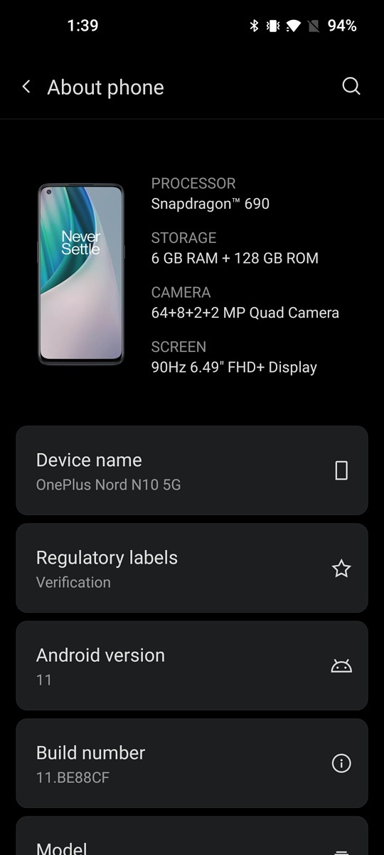 Android 11 could be landing soon on the OnePlus Nord N10