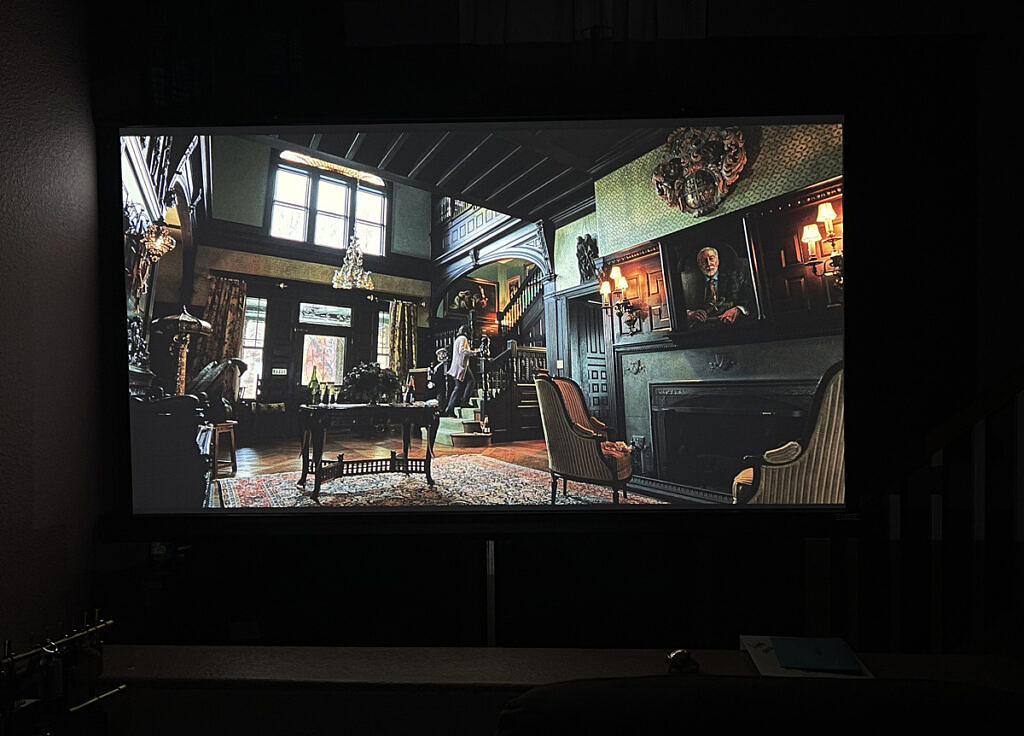 Projector image in nighttime