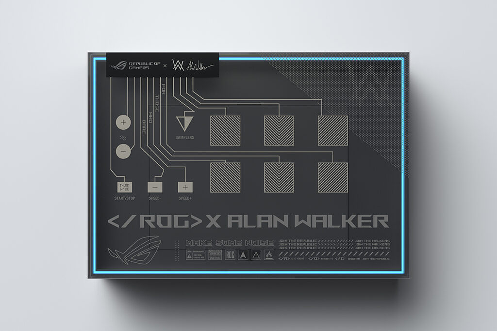 The box of the ASUS ROG Zephyrus G14 Alan Walker Edition