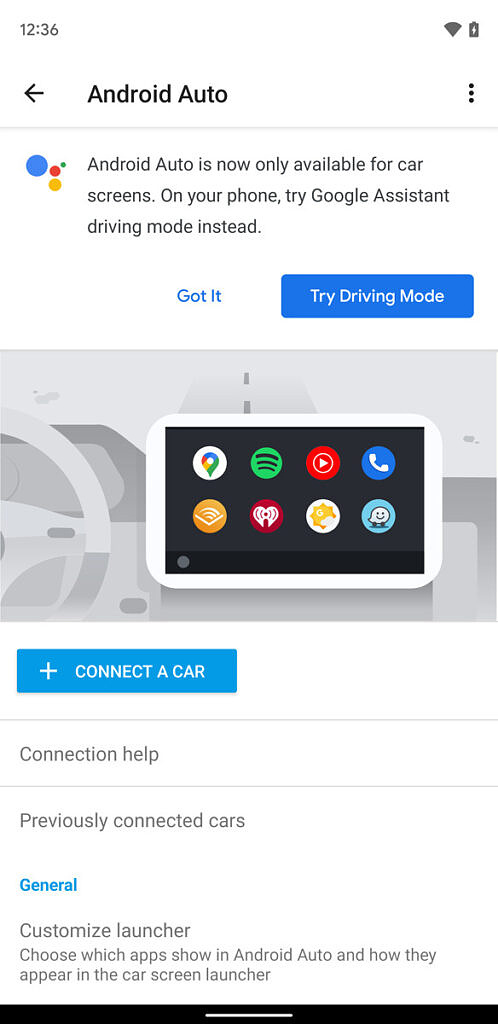Android Auto for Phone Screens is going away