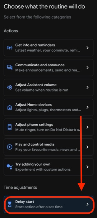 Google Assistant delay routines