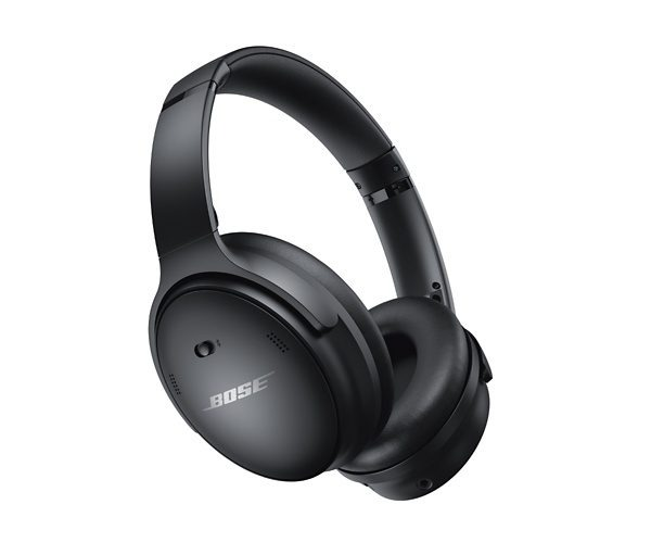 Bose QC45 headphones on white background -- right side