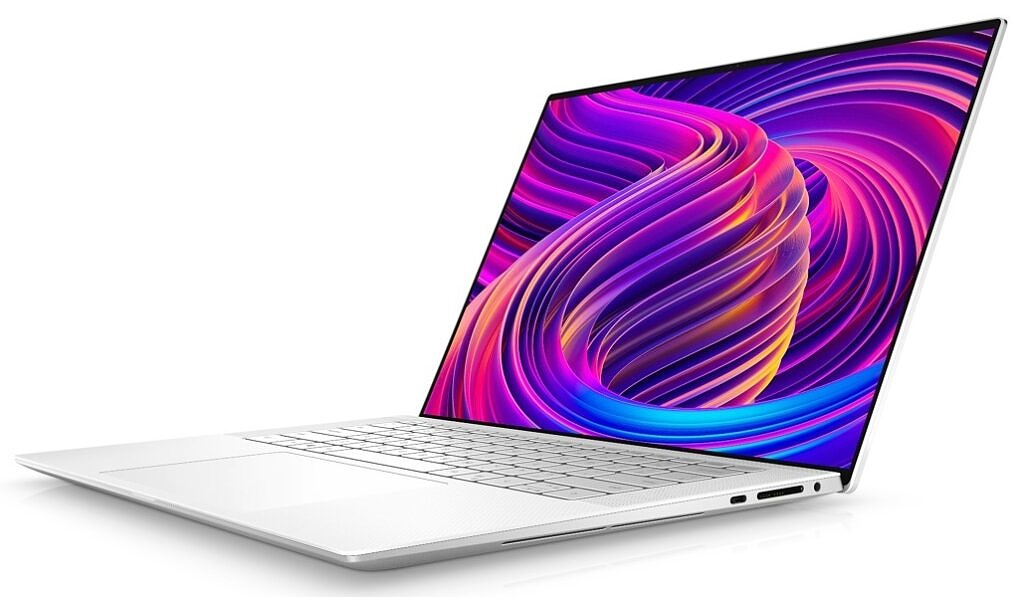 Dell XPS 15 Arctic White Right Angle View