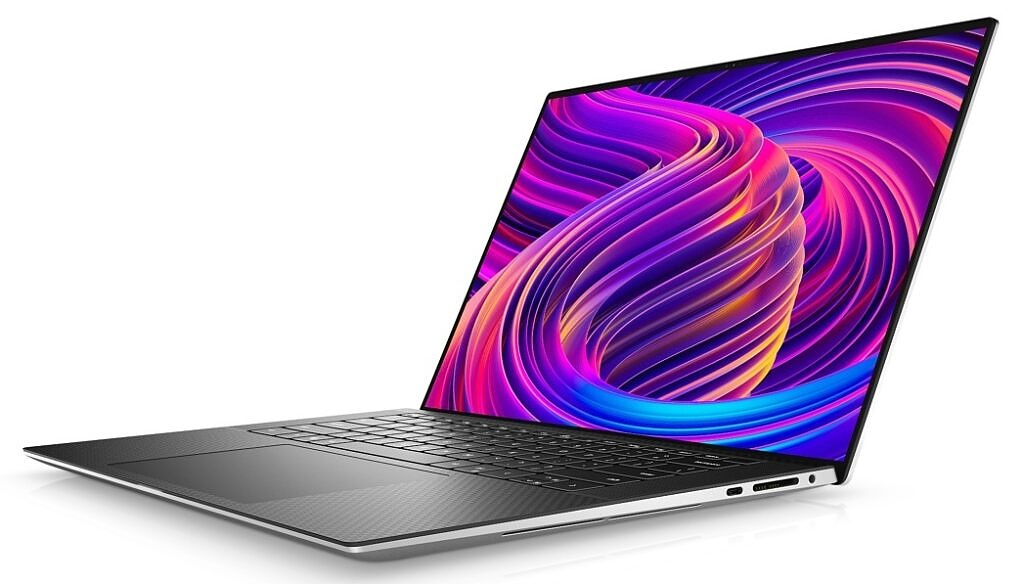 Dell XPS 15 Black Right Angle View