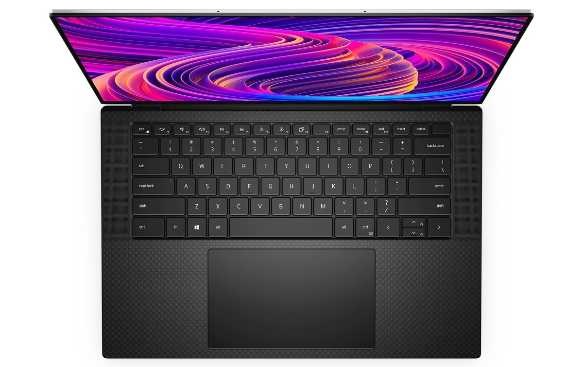Dell XPS 15 Black Top-Down View
