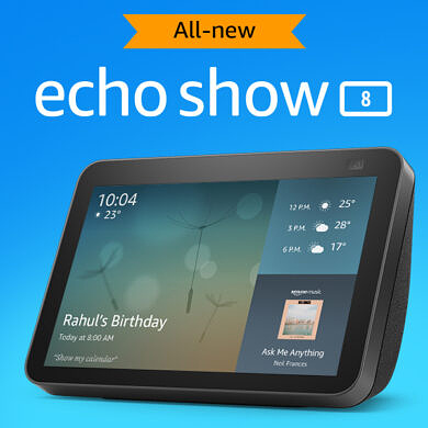 Amazon Echo Show 8 2021 launched in India for ₹11,499