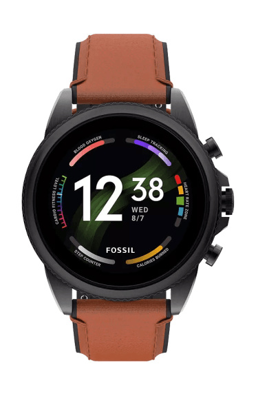 Front of the Fossil Gen 6 smartwatch for men