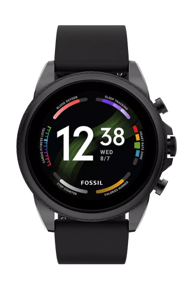 Fossil Gen 6 smartwatch for men with black fabric strap