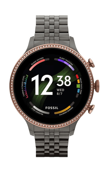 Fossil Gen 6 smartwatch for women with chocolate stainless steel strap