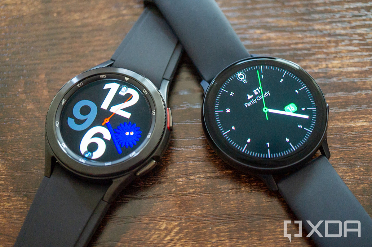 Galaxy Watch 4 Classic next to the Galaxy Watch Active 2