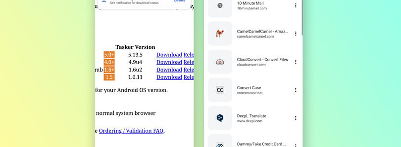 Google Chrome for Android tests a new UI for the downloads panel and bookmarks