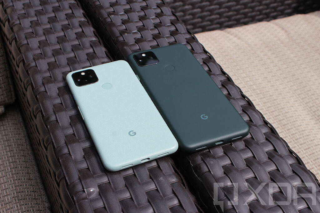 Google Pixel 5 and Pixel 5a side by side