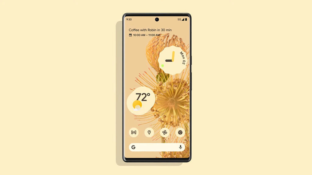 Google Pixel 6 with Material You theming on Android 12