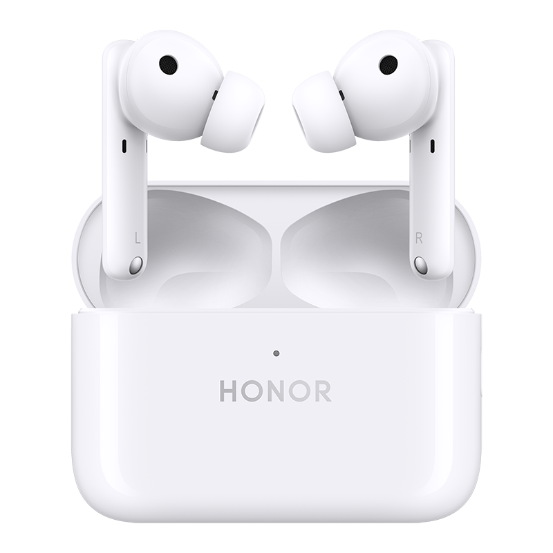 Honor Earbuds 2 Lite White on transparent background
