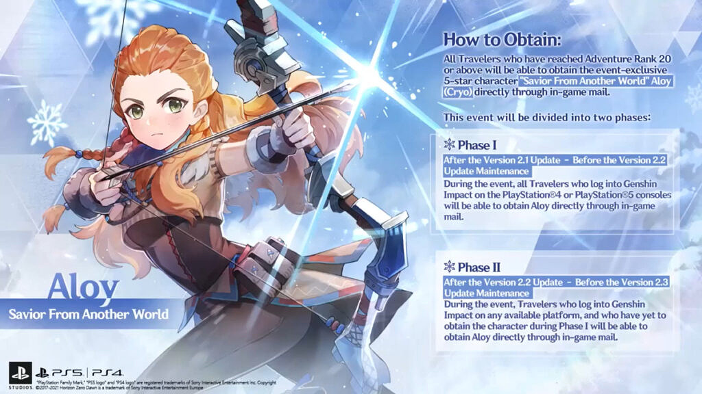 How to obtain Aloy character for free in Genshin Impact