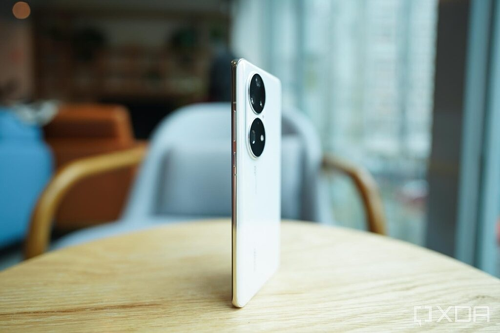 Huawei P50 Pro from the side.
