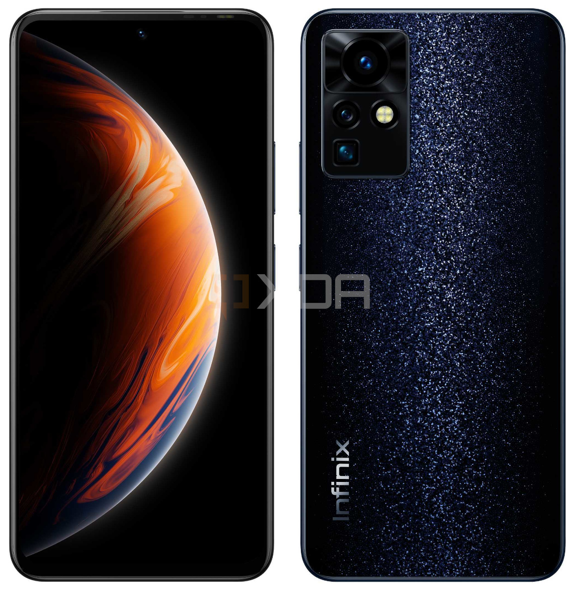 Infinix Zero front and back side-by-side