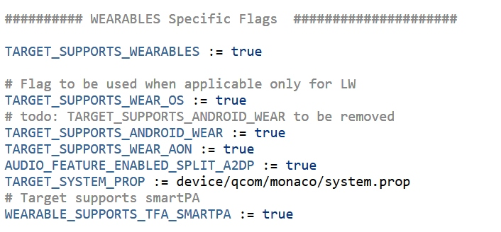 Monaco, which could be the Snapdragon Wear 5100, supports Wear OS
