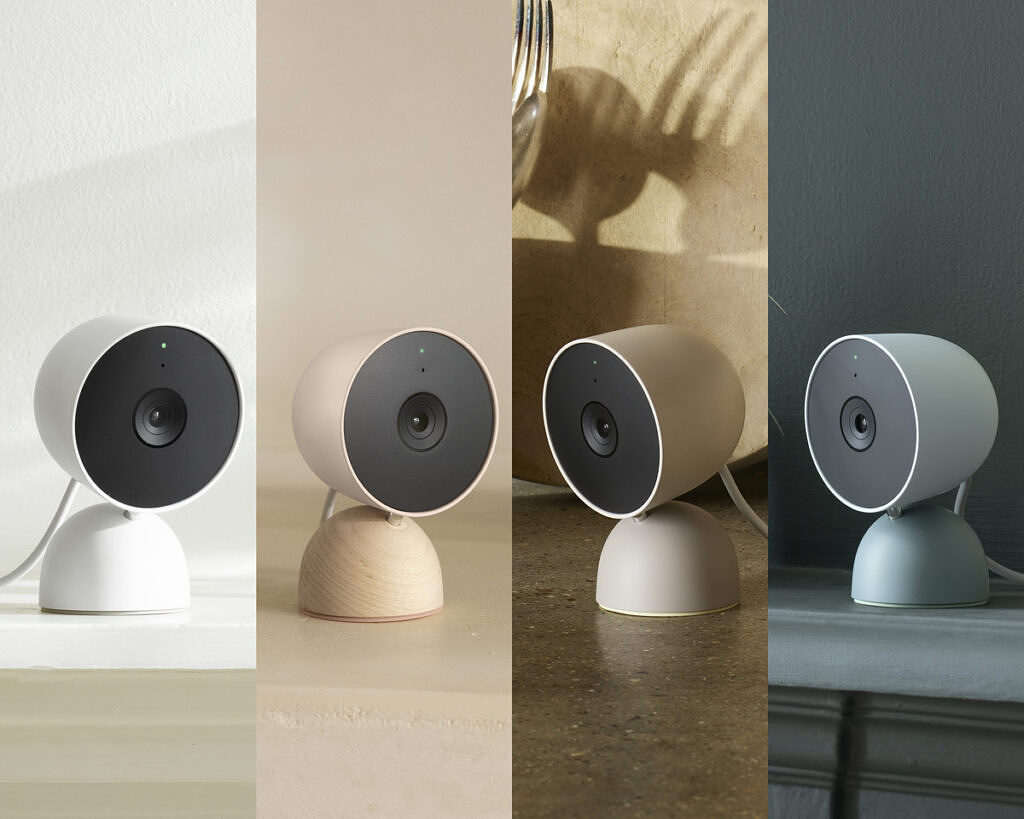 Nest cam wired in multiple colors