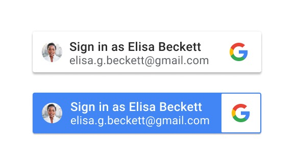 New Sign in with Google buttons