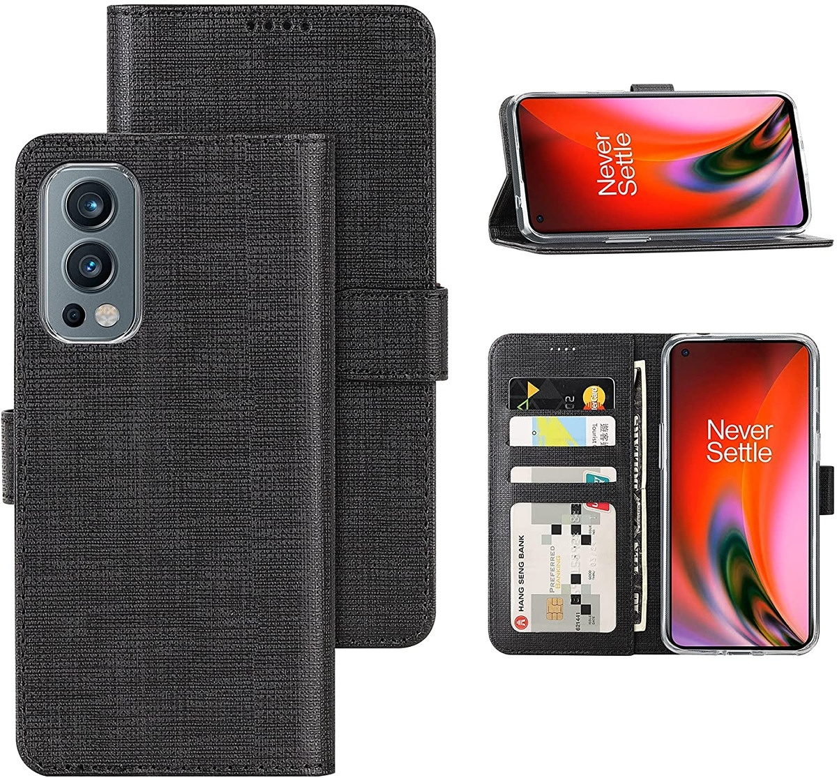 Wallet case with kickstand