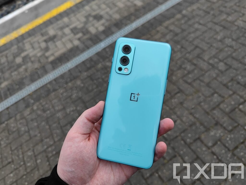 The back of the OnePlus Nord 2