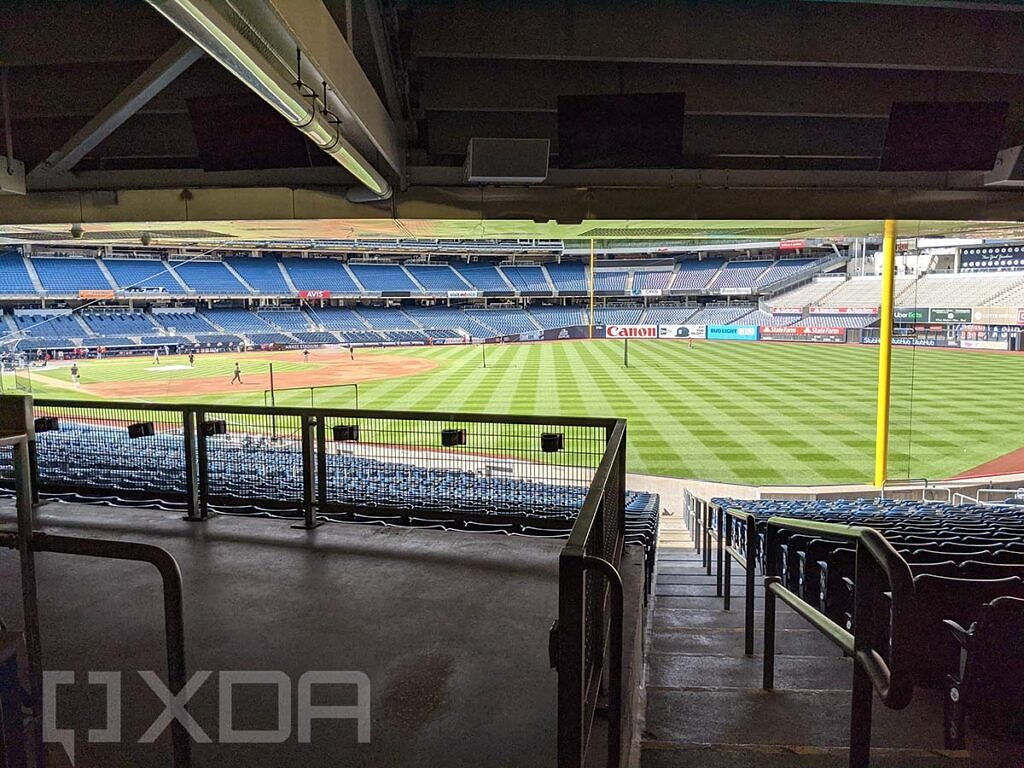 Yankee Stadium from behind the stands