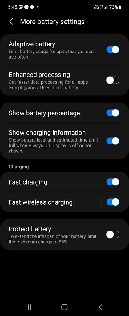 """""""Protect battery"""" feature on the Samsung Galaxy Z Fold 3 and the Samsung Galaxy Z Flip 3"""