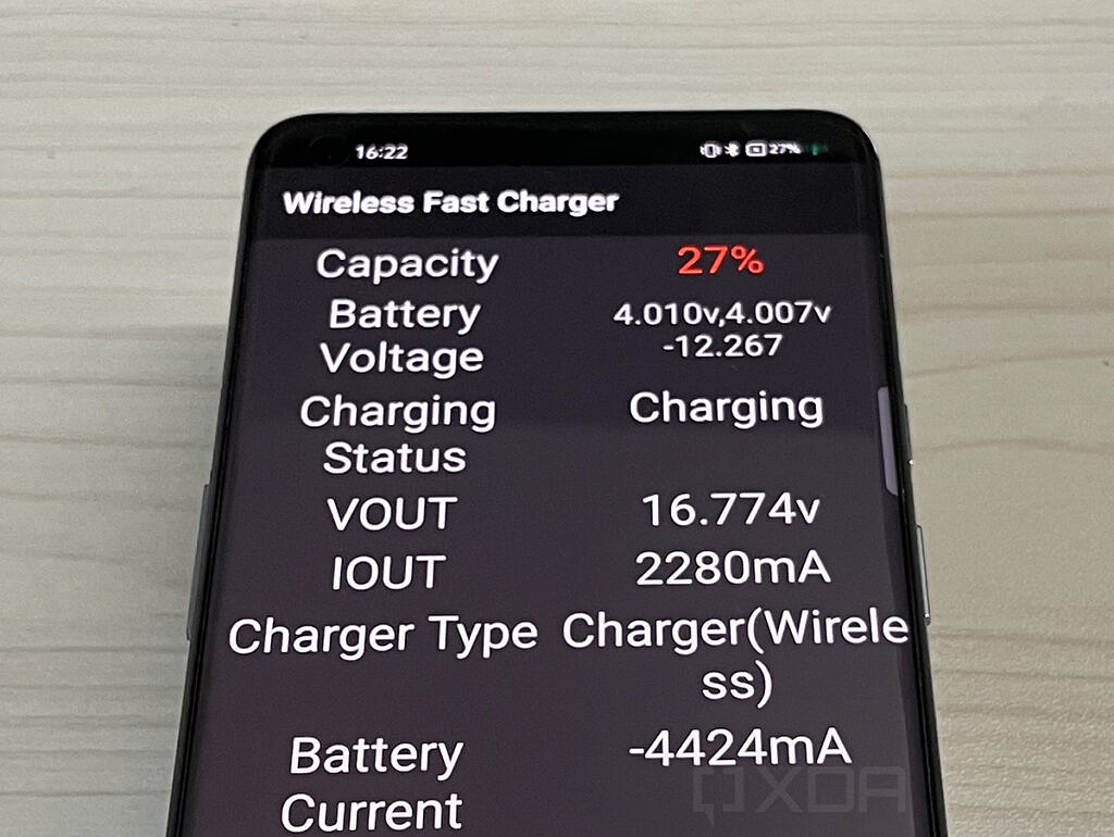 Realme Flash wireless charging stats