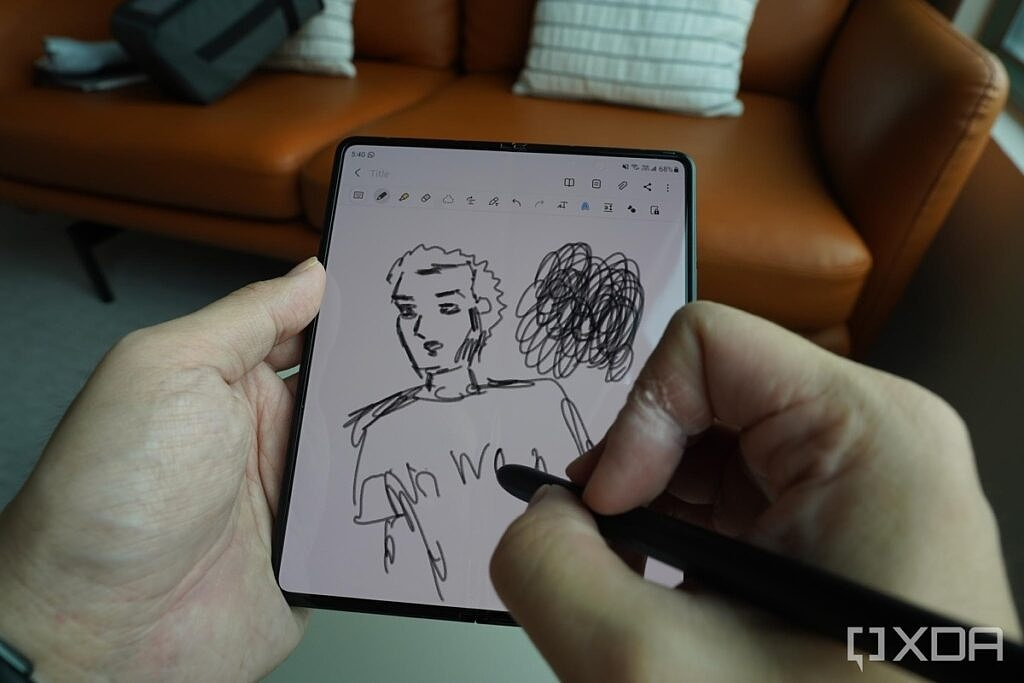 Using the S-Pen Pro on the Galaxy Z Fold 3