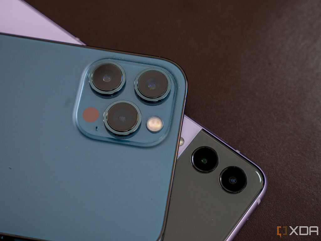 iPhone 12 Pro Max and Galaxy Z Flip 3 cameras