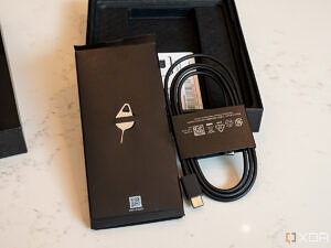 Charger and SIM tray removal tool inside Galaxy Z Fold 3 box