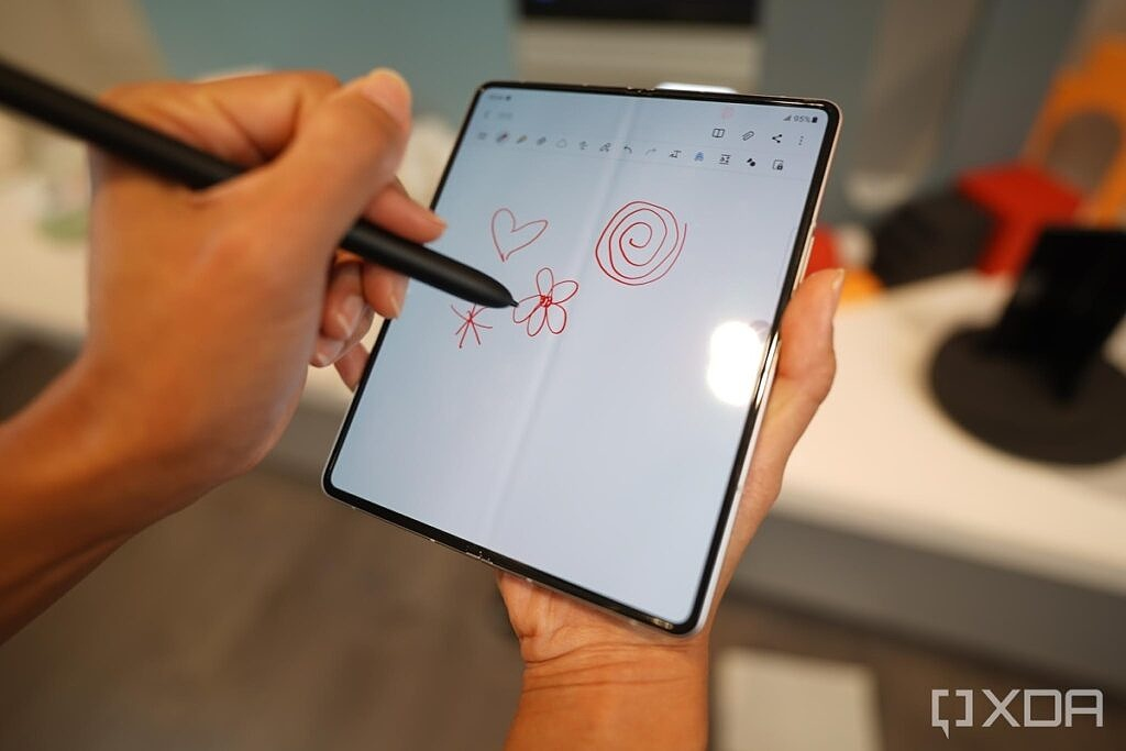 S-Pen Pro in action on the Z Fold 3