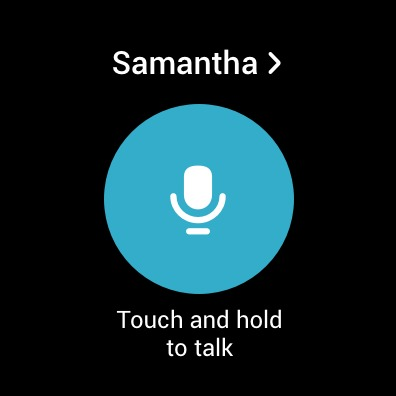 Touch and hold to talk in Samsung Walkie Talkie app