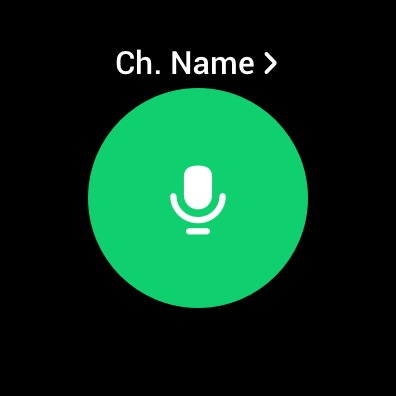 Changing the channel name in Samsung Walkie Talkie app