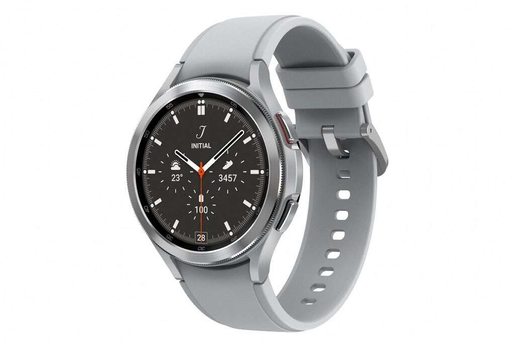 Samsung Galaxy Watch 4 Classic with Silver Strap