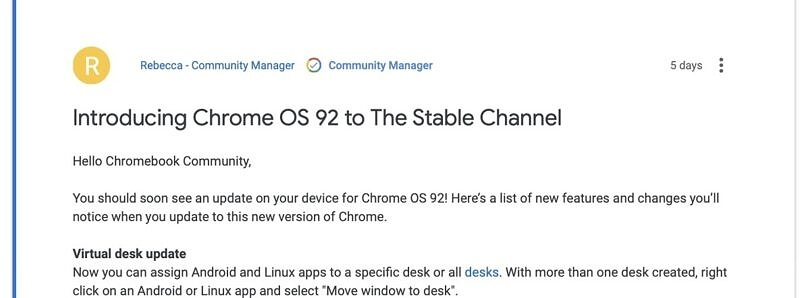 This week in Chrome OS: Chrome OS 92 hits stable