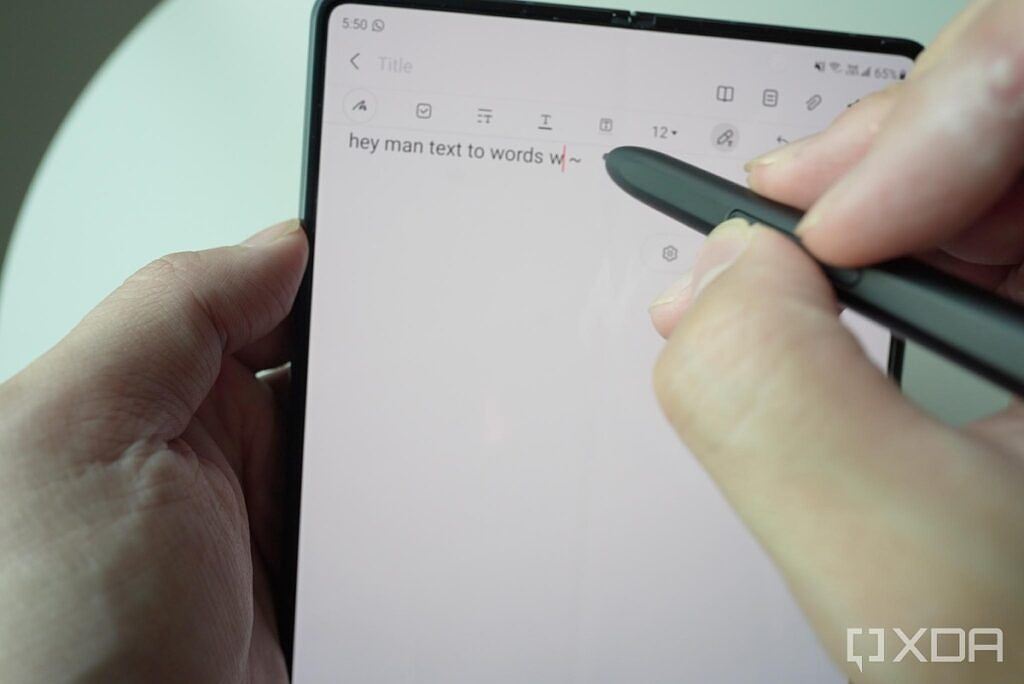 Samsung's written words converteed to text
