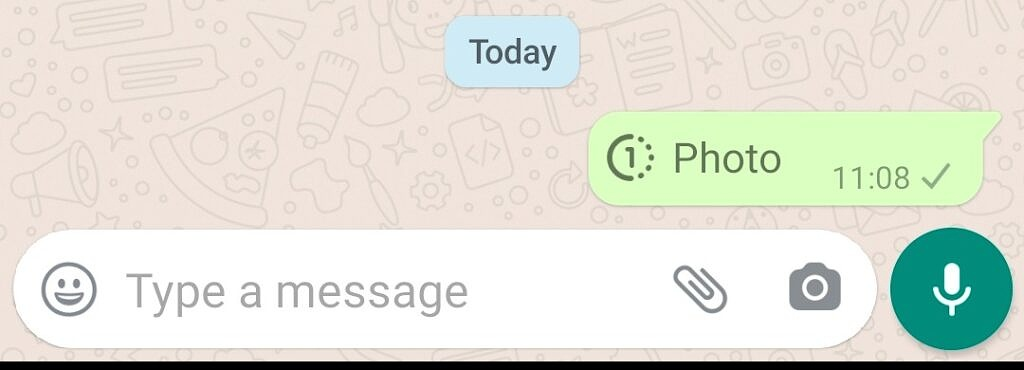 WhatsApp View Once message