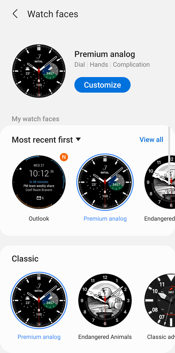 List of watch faces