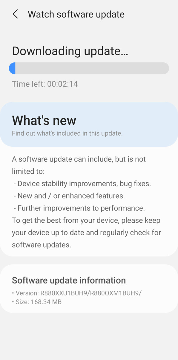 Installing a system update